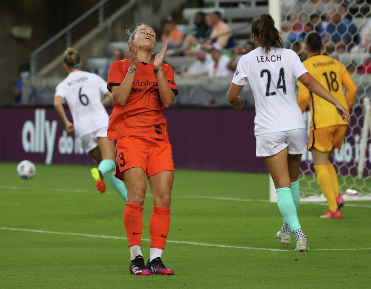 Rachel Daly, reacting to a missed shot against Kansas City, says the Dynamo need to take advantage of two more home games this week.
