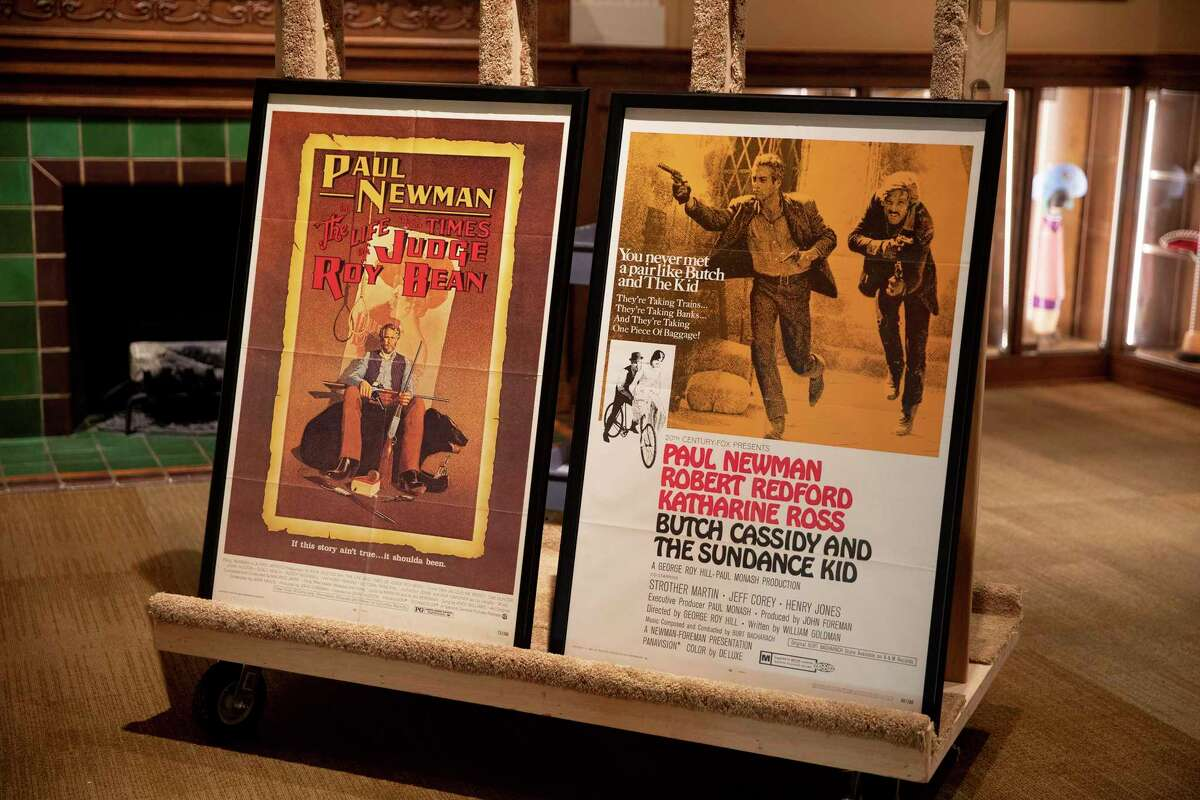 """Original posters from the Paul Newman films """"The Life and Times of Judge Roy Bean"""" and """"Butch Cassidy and the Sundance Kid"""" can be seen in """"Still in the Saddle: A New History of the Hollywood Western"""" at the Briscoe Western Art Museum."""