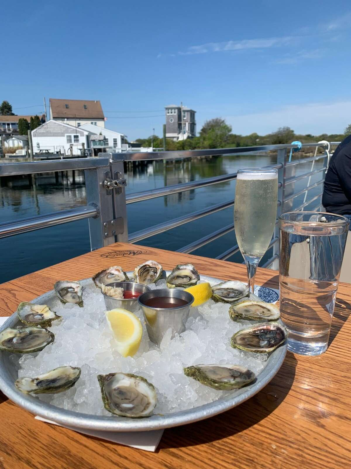 Matunuck Oyster Bar in South Kingstown, Rhode Island, offers a tour of the oyster farming process. Lunch afterward featured passion fruit oysters.