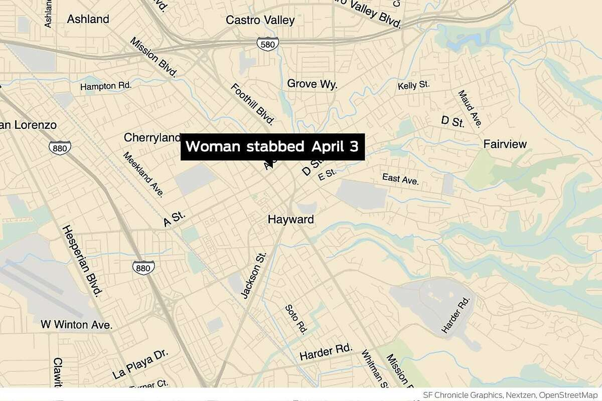 On April 3, 2021, Hayward police responded to a report of a stabbing on the 1000 block of A Street.