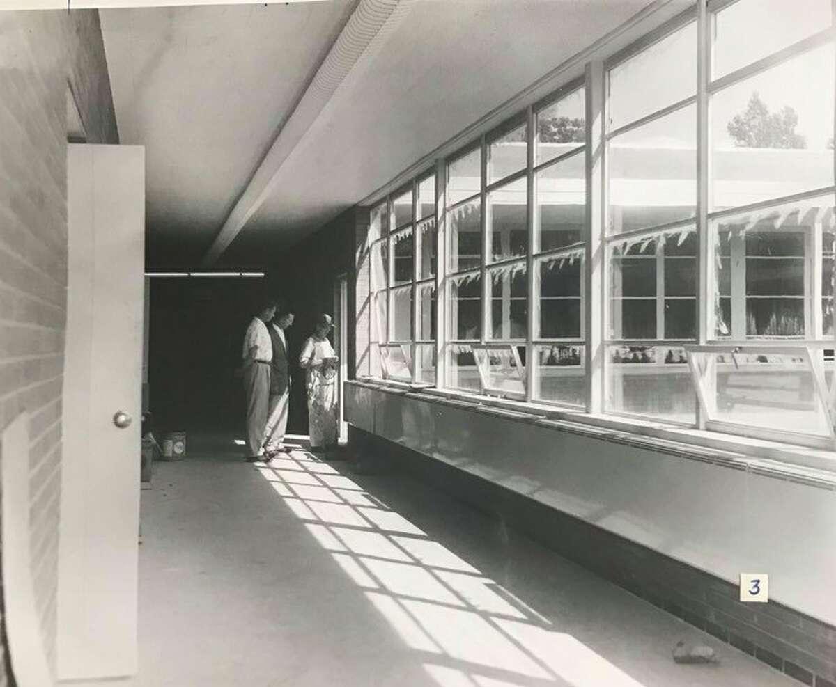 Construction of Siebert Elementary School. 1958