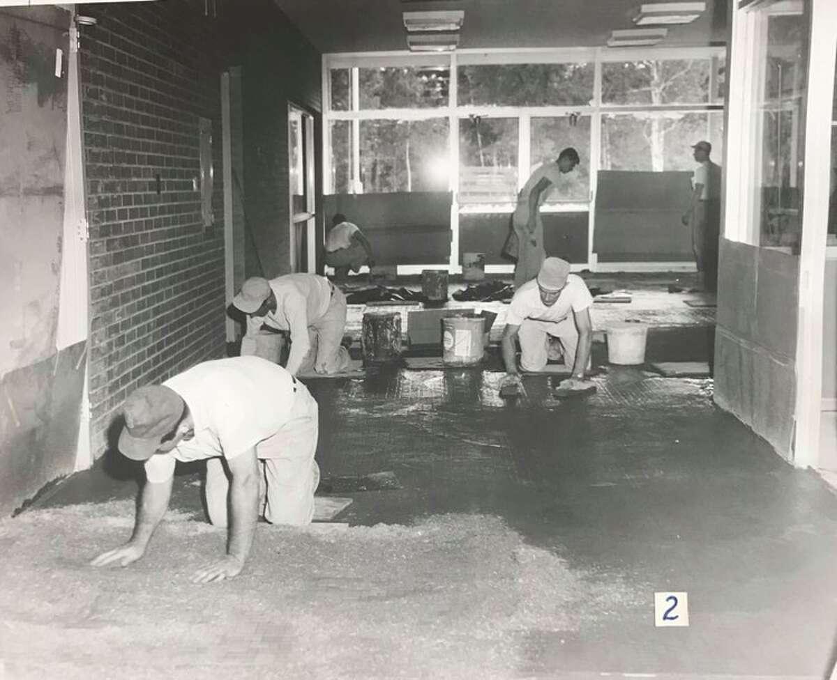 Floor work at Siebert Elementary School. 1958