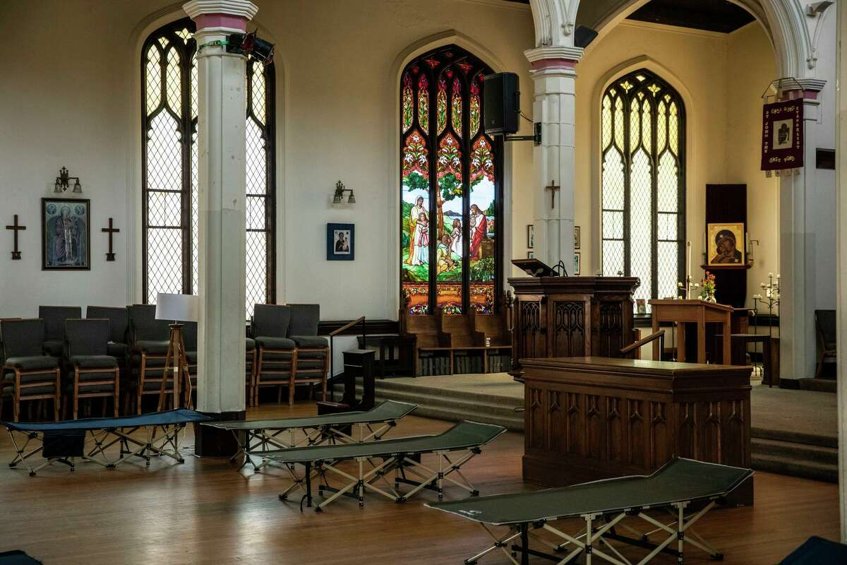 The Gubbio Project provides a safe place for homeless people to sleep in the Episcopal Church of St. John the Evangelist.