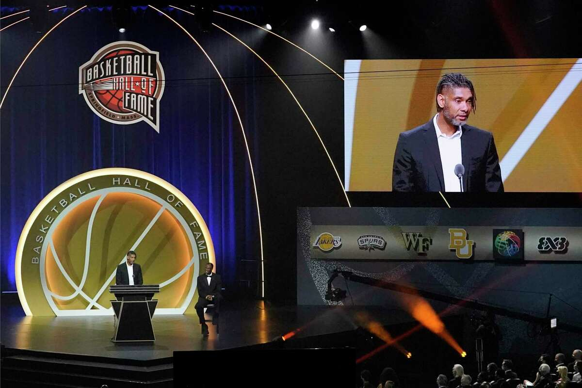 Tim Duncan is enshrined in the Naismith Memorial Basketball Hall of Fame earlier this month. The greatest power forward of all time is also celebrated for his quiet confidence.