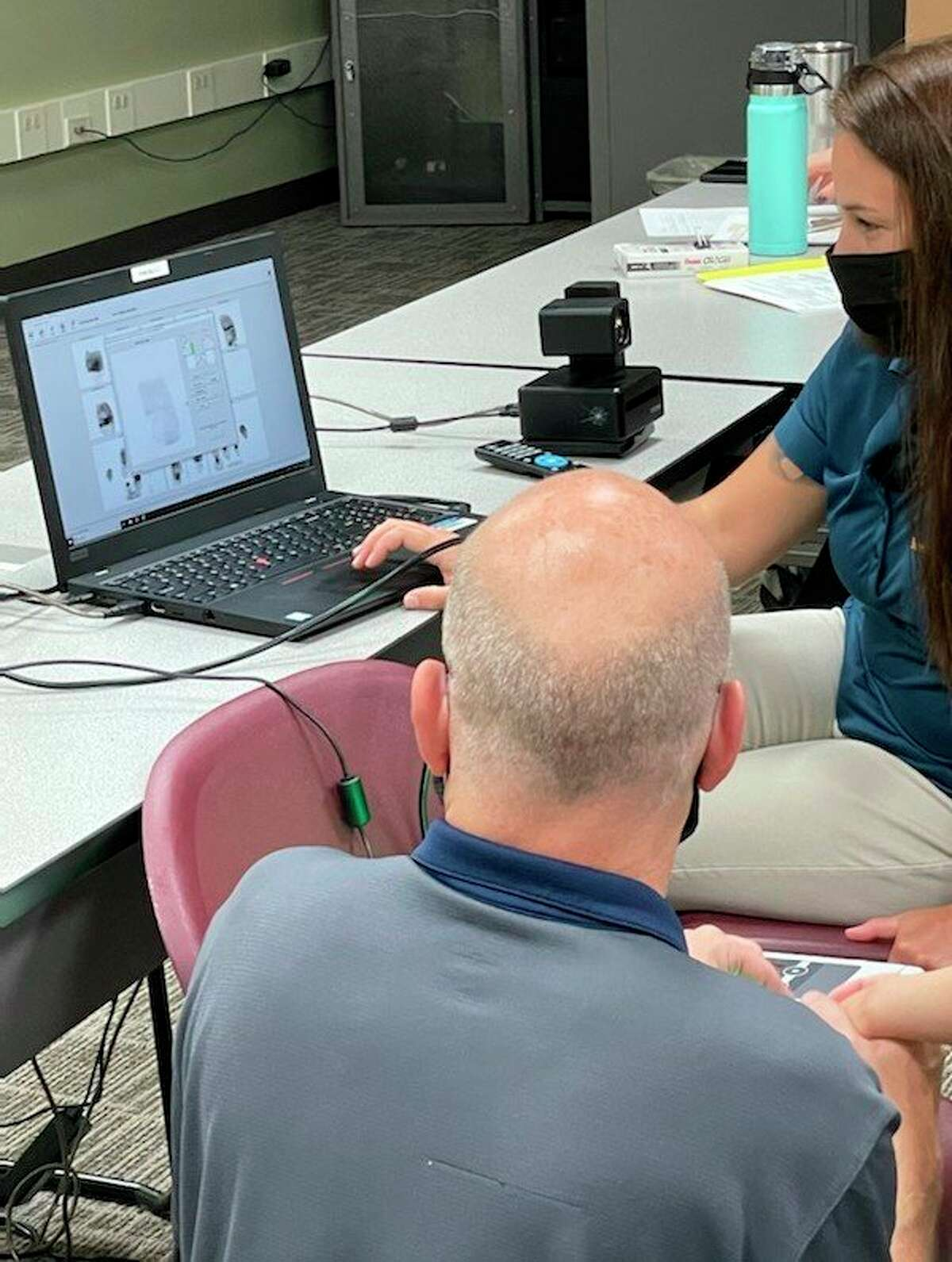 The Manistee Intermediate School District hosted a Vulnerable or Impaired Person enrollment event on May 19. Fingerprintscanswere taken electronicallyto be put intoa state-managed database, allowing for easier identification by a law enforcement officer. (Courtesy photo)