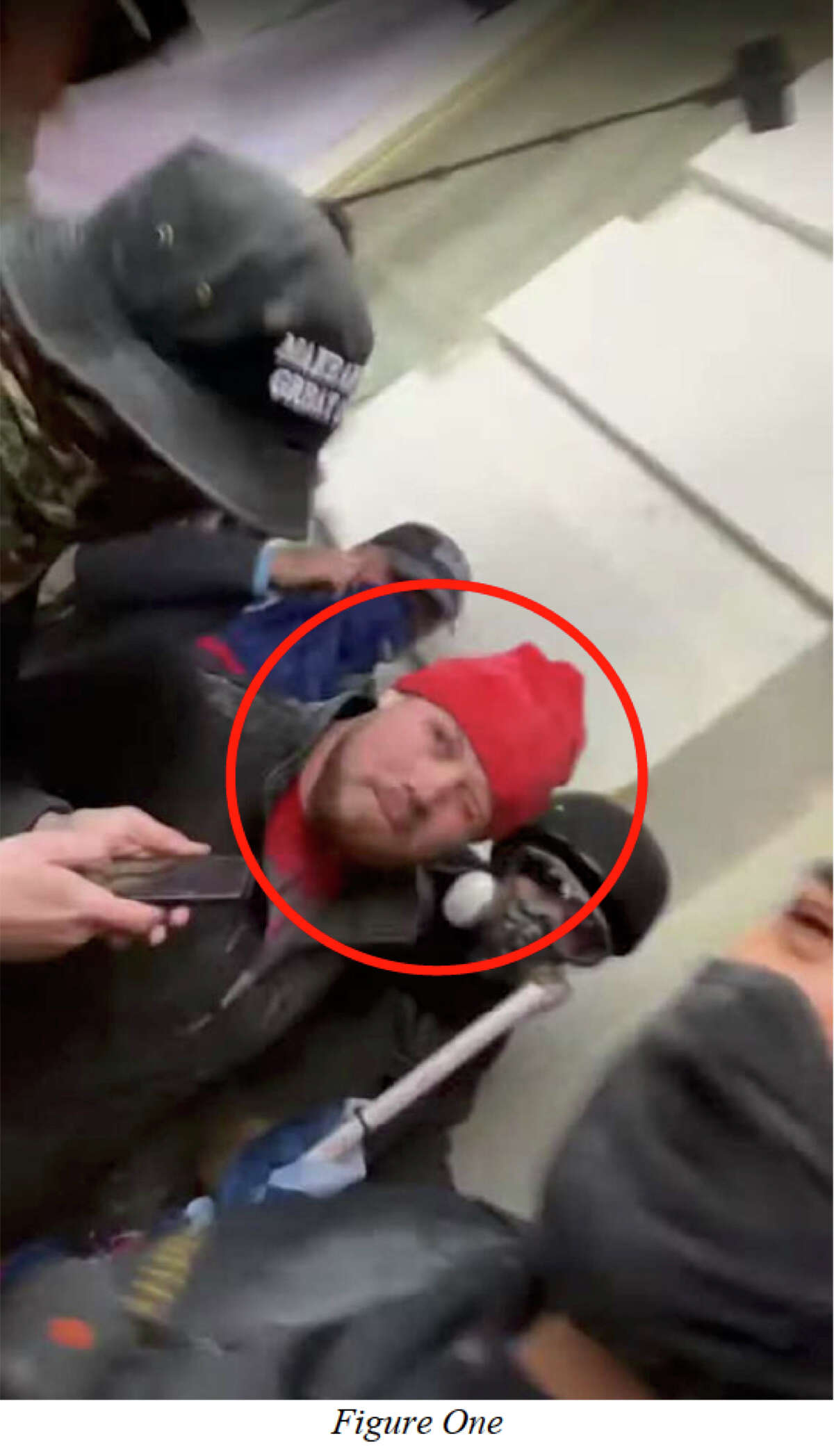 Christian Cortez of Seabrook, Texas, can be seen in video footage shouting at police after apparently being sprayed with pepper spray, according to charging documents.