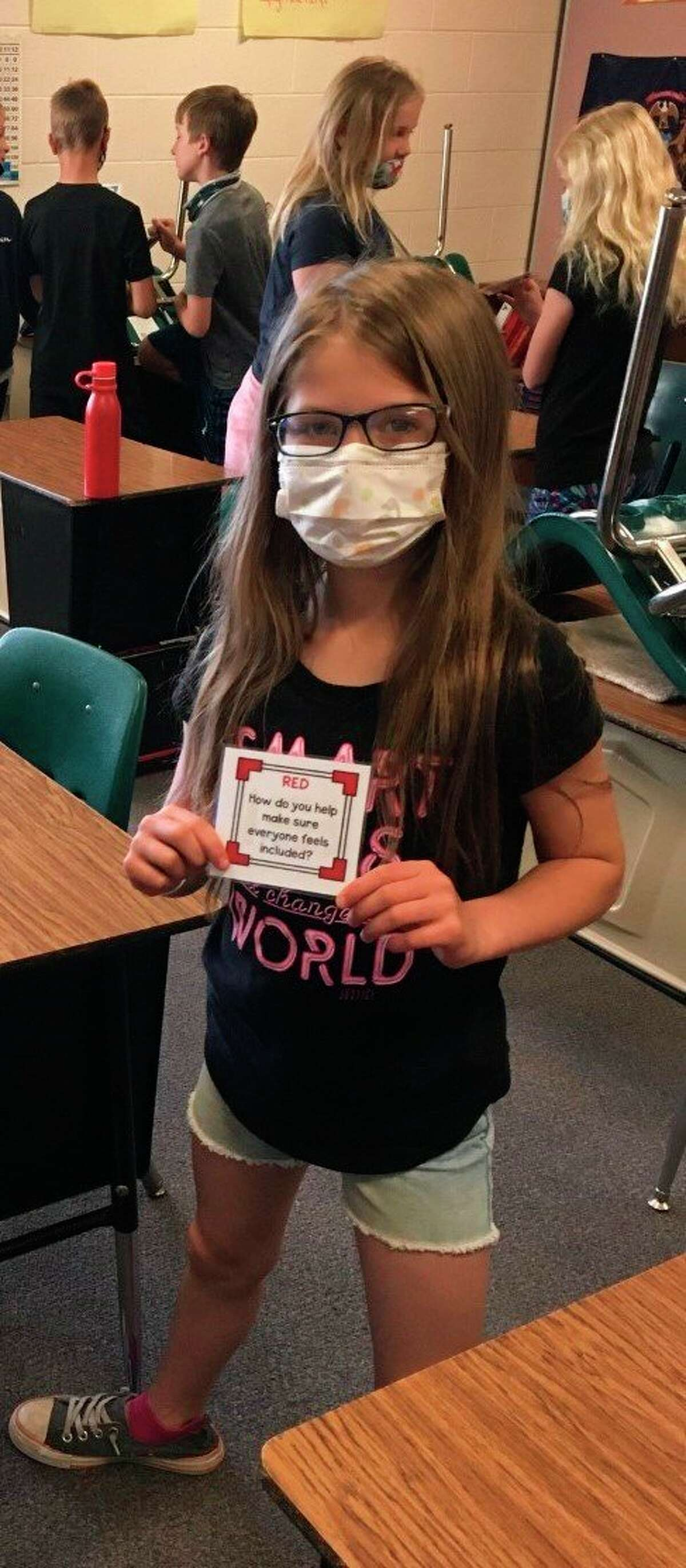 Tracy Bennett's fourth-grade class at Onekama Consolidated Schools took part in a number of activities in honor of Mental Health Awareness Month. (Courtesy photo)