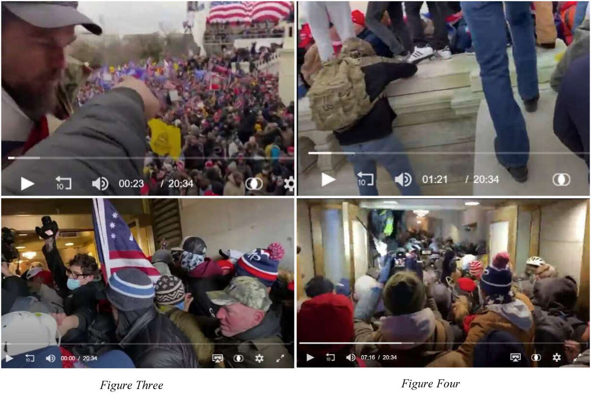 Andrew Jackson Morgan, of Maxwell, Texas, filmed himself entering the Capitol with a crowd. Authorities claim he was encouraging the others to take over the building, despite his assertion he was only there to document it.