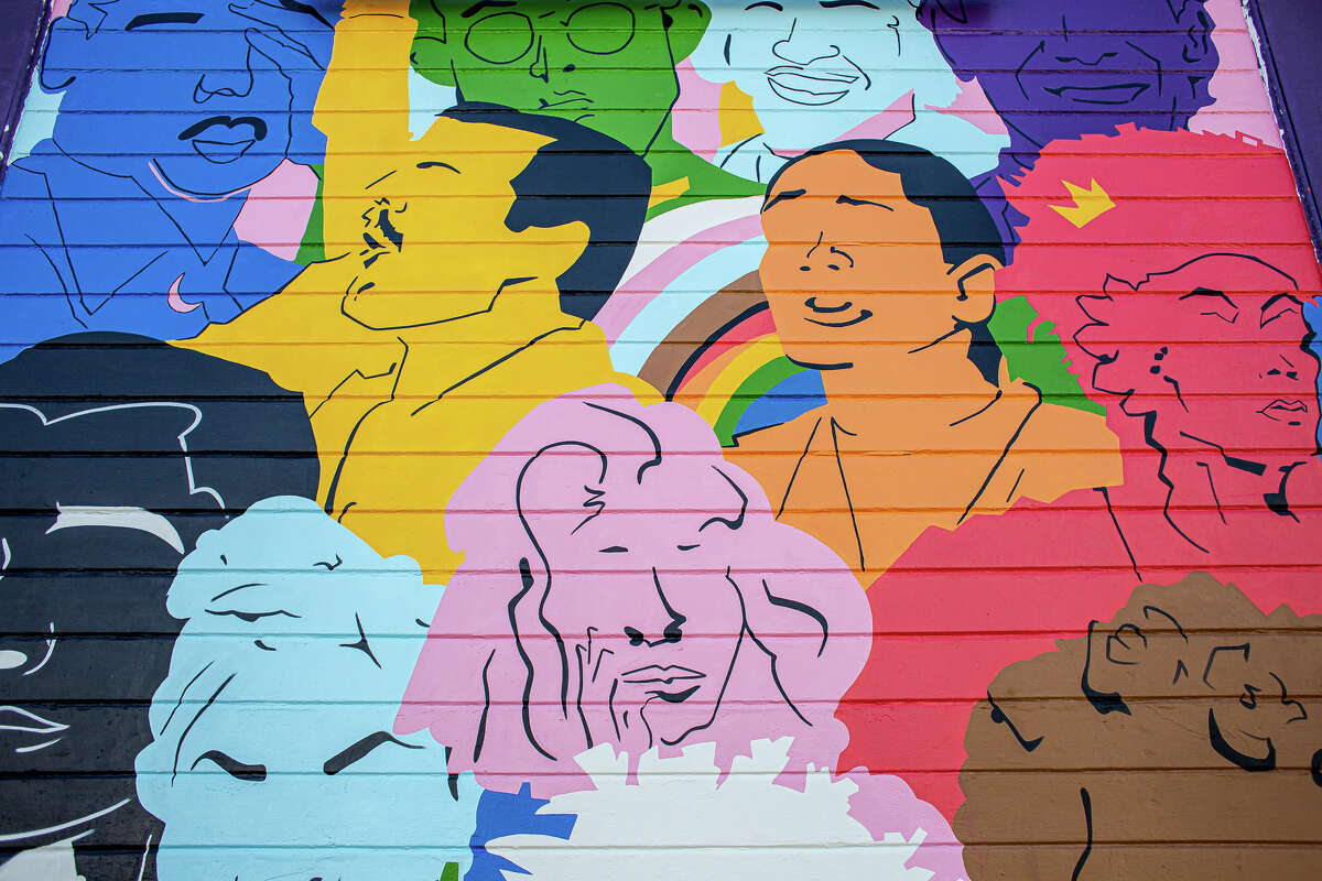 The newly unveiled mural in the Castro, titled