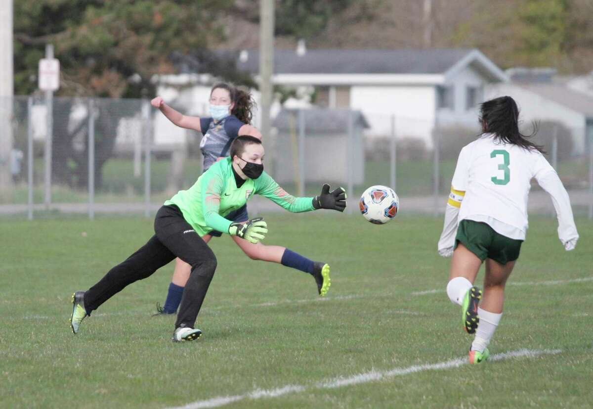 Manistee goalkeeper Rachael Owens will look to stifle the Big Rapids offense on Thursday in a Division 3 district quarterfinal at Chippewa Field. (News Advocate file photo)