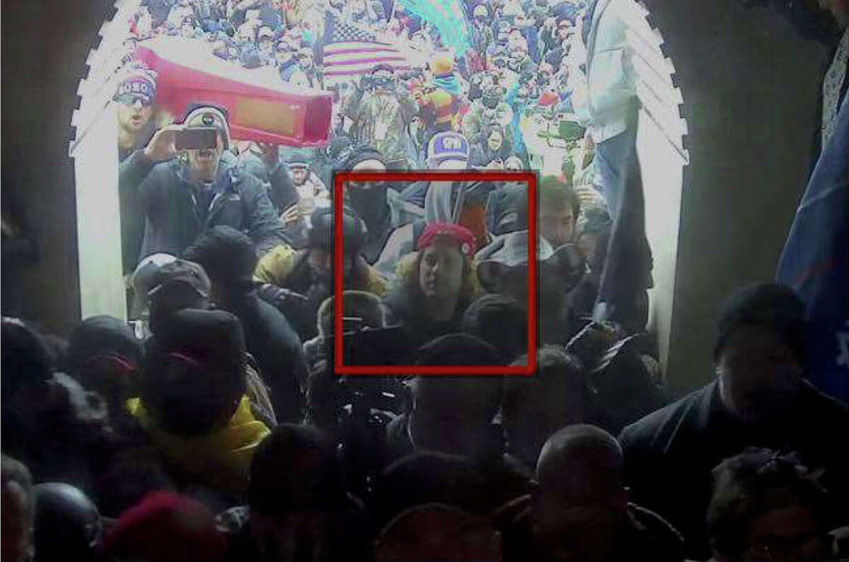 FBI agents say security video from the Capitol helped them identify David Judd of Carrollton, Texas, amid a crowd of rioters at the West Terrace entrance.