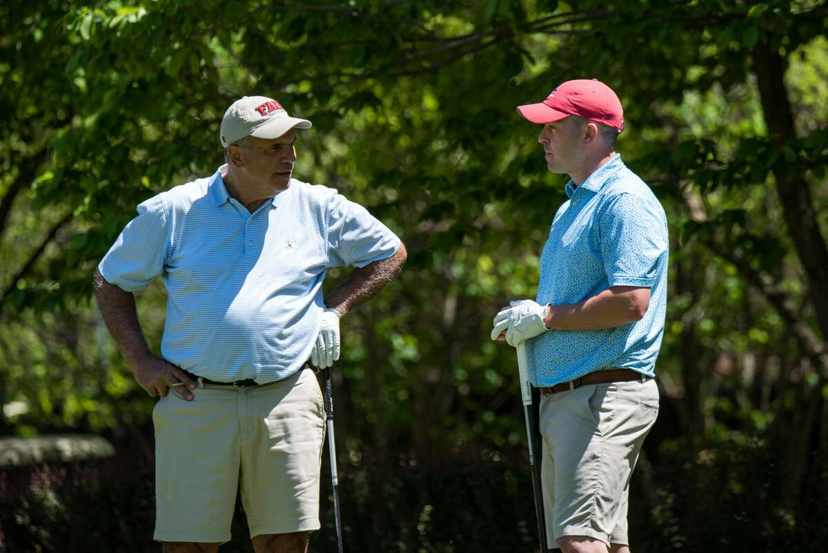 Dan Russo, left, of Schuyler Meadows, and Jim Gifford of Mohawk were except from qualifying in next week's State Amateur at Schuyler Meadows. (Dan Thomnpson/NYSGA)