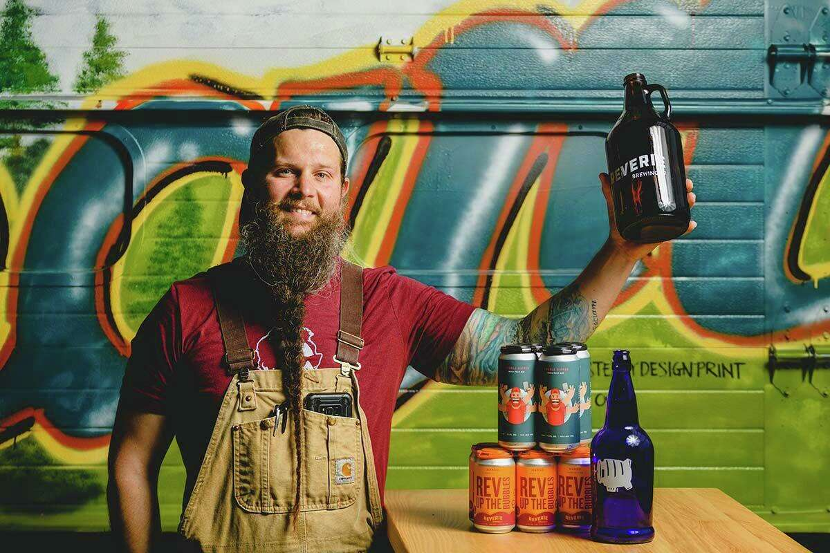 Frank Lockwood, Reverie's head brewer and a co-owner, has been perfecting his brewing technique for about as long as he's been working on his beard.