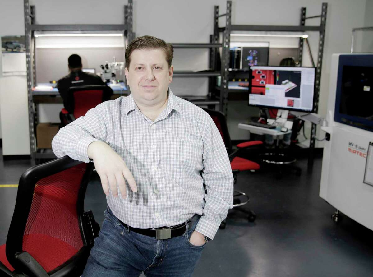 Misha Govshteyn, CEO of MacroFab, a Houston electronics manufacturer, on Friday, March 6, 2020. MacroFab, a digital-platform company for electronics manufacturing, announced on May 25 it has raised $15 million in Series B funding.