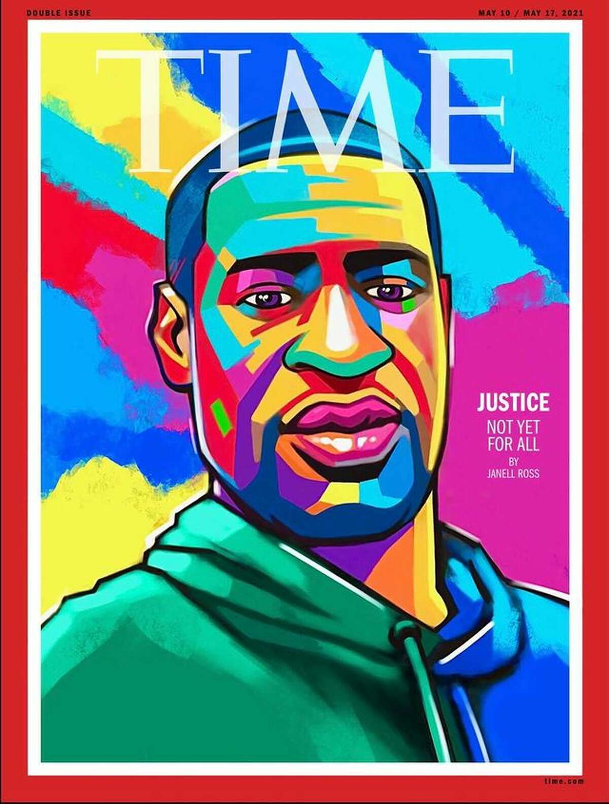 Cover of George Floyd's TIME magazine by Ange Hillz.