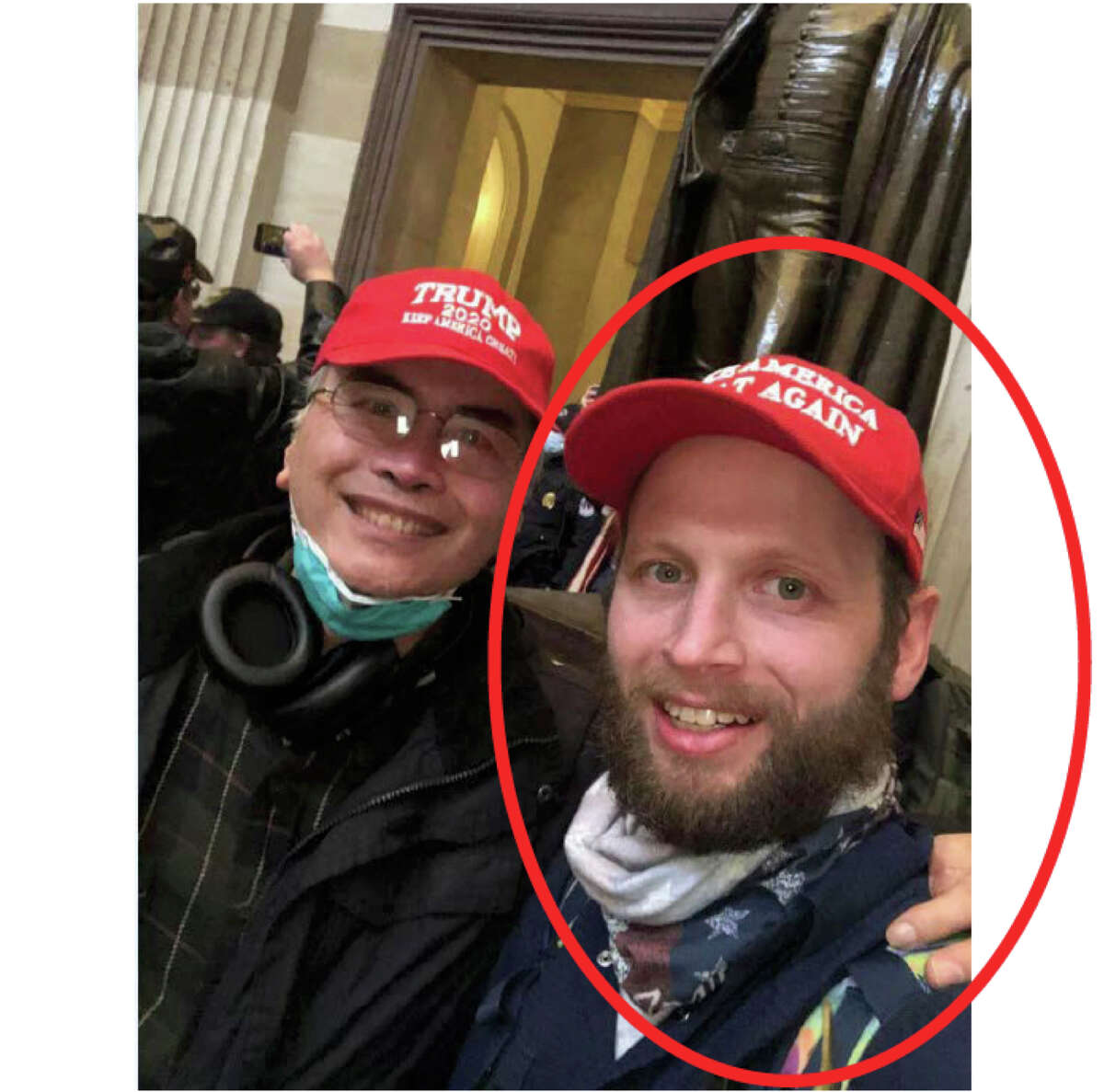 Garret Miller of Richardson, Texas, posted selfies he took at the Capitol on Facebook, federal authorities say.