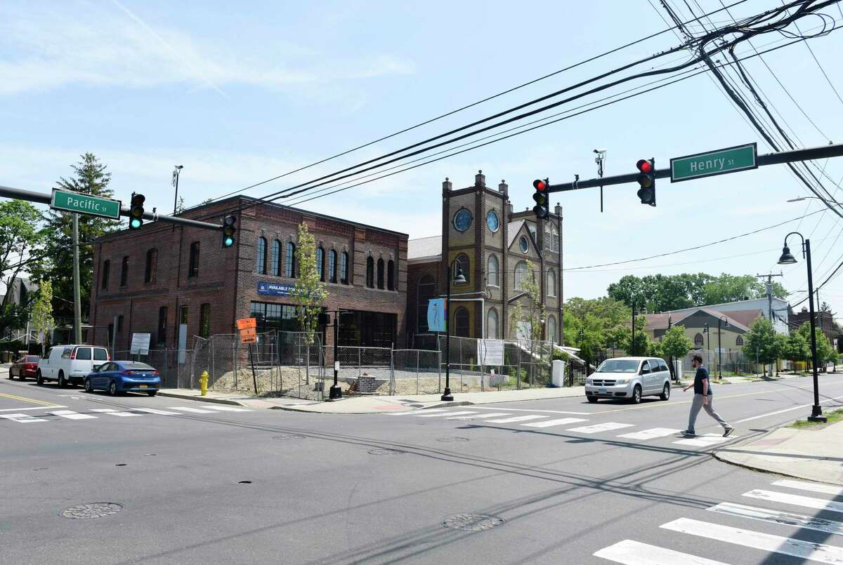 Questions are being raised about future development on Pacific Street in the South End of Stamford. Manhattan-based Hogg Holdings is proposing rezoning for a number of properties that its set to purchase between 648 and 692 Pacific St. as well as 171 Henry St.