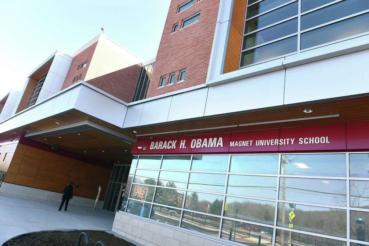 The Barack H. Obama Magnet University School in New Haven photographed on March 5, 2020.
