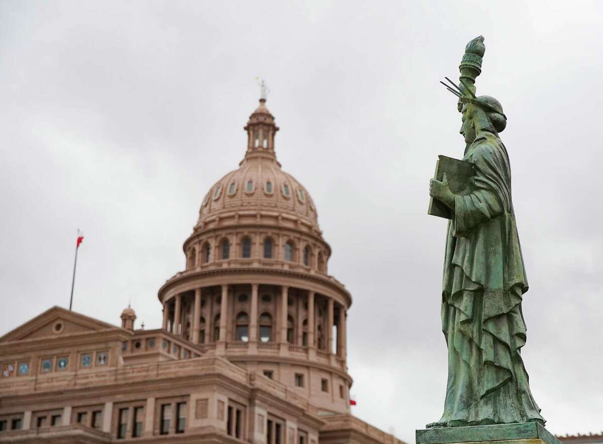 The Texas State Capitol in Austin on March 30, 2021.