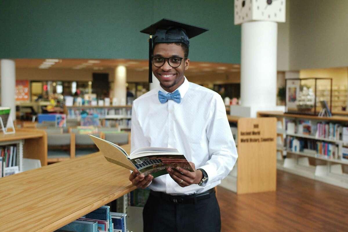 Pasadena High School senior Desmond Gourrier will give the benediction for his class graduation.