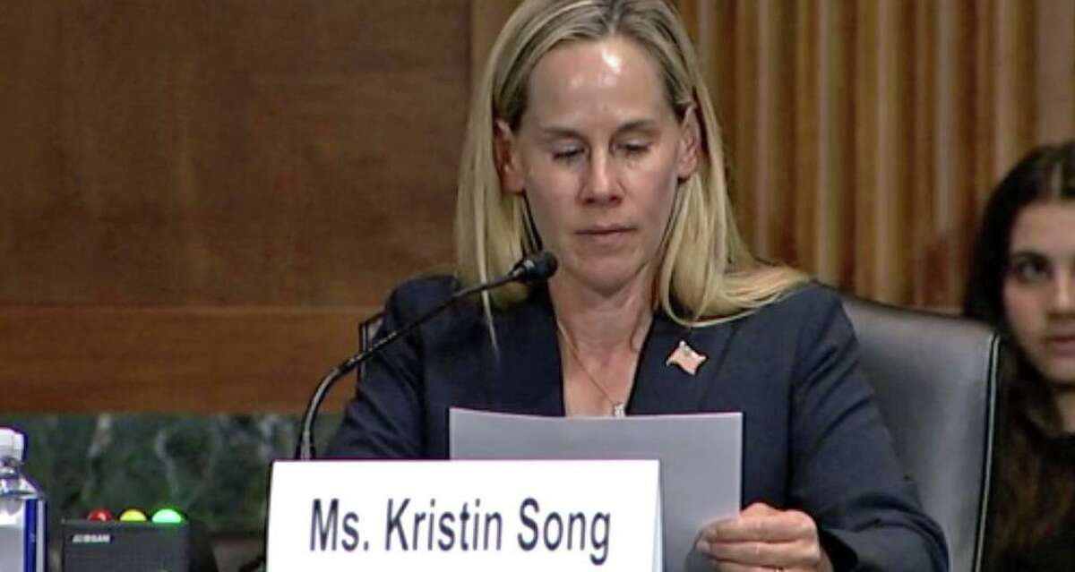 Kristin Song of Guilford, whose son Ethan died at age 15 in a gun accident, testified before Congress on Tuesday May 25, 2021 regarding federal laws mandating safe storage requirements for firearms.