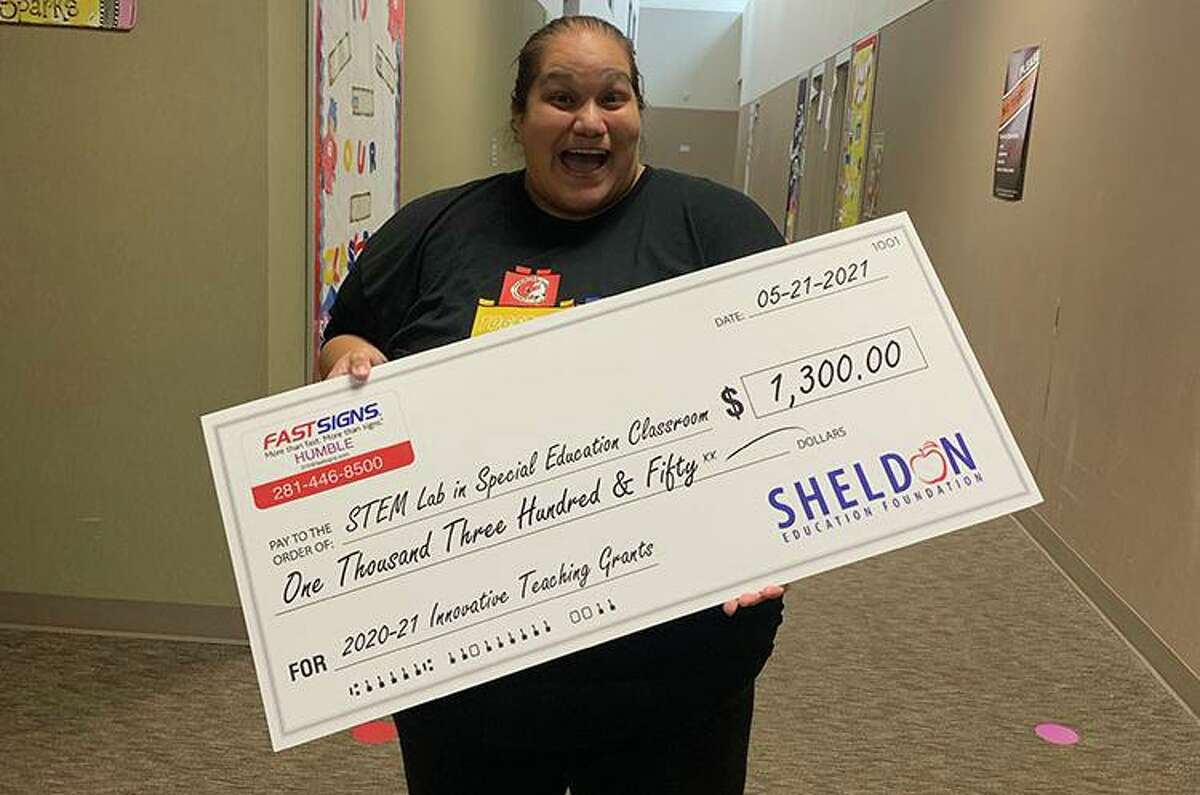 The Sheldon ISD Education Foundation awarded a total amount of $39,286 in grants in the form of oversized checks to teachers on Friday.