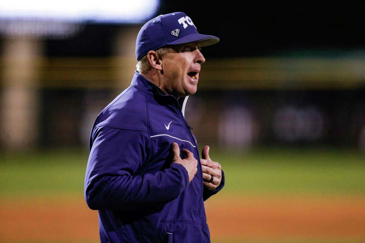 TCU's Jim Schlossnagle says he doesn't want to leave Fort Worth but Texas A&M will likely approach him anyway after his season is over about replacing Rob Childress.
