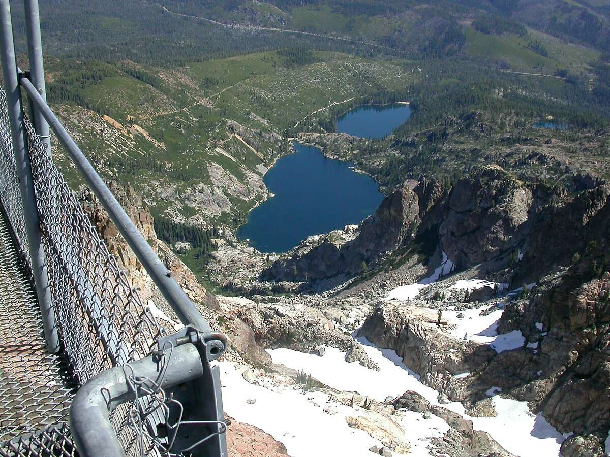 The view from Sierra Butte to Sardine Lakes.