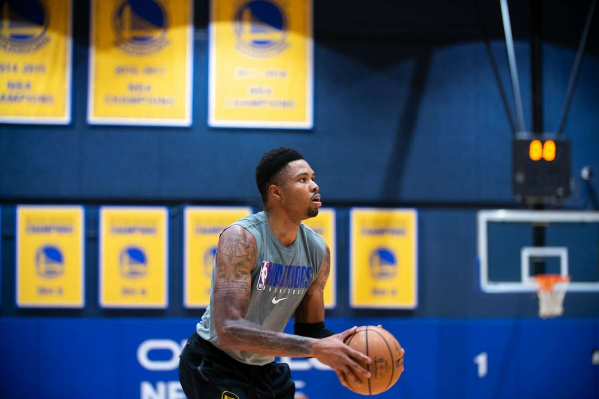 Golden State Warriors?• Kent Bazemore at practice at Chase Center in San Francisco, Calif. on Dec. 3, 2020.