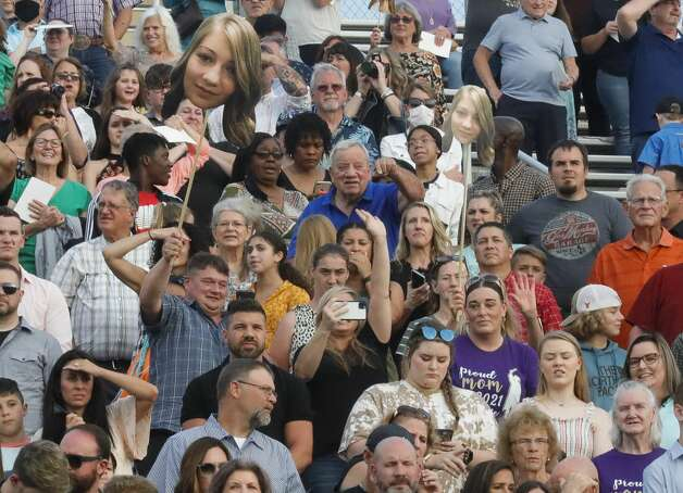 Friends and family cheer during a graduation ceremony, Tuesday, May 25, 2021, in Montgomery. Photo: Jason Fochtman/Staff Photographer / 2021 © Houston Chronicle