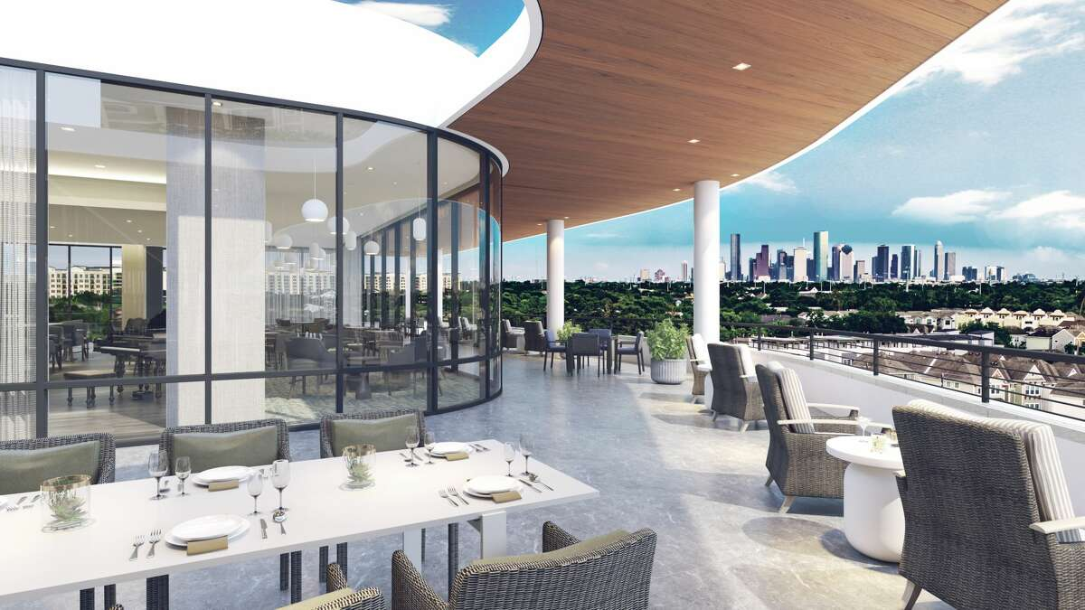 Outdoor dining and skyline views are on the menu at the Watermark at Houston Heights, a development of Watermark Retirement Communities and Hines at 1245 W. 18th St.