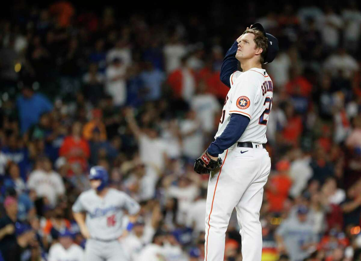 With the offense providing him no support, Astros starter Zack Greinke had little margin for error in Tuesday night's loss to the Dodgers.