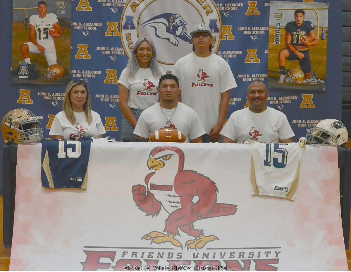 Alexander linebacker Marco Torres committed Tuesday to play at Friends University in Wichita, Kansas.