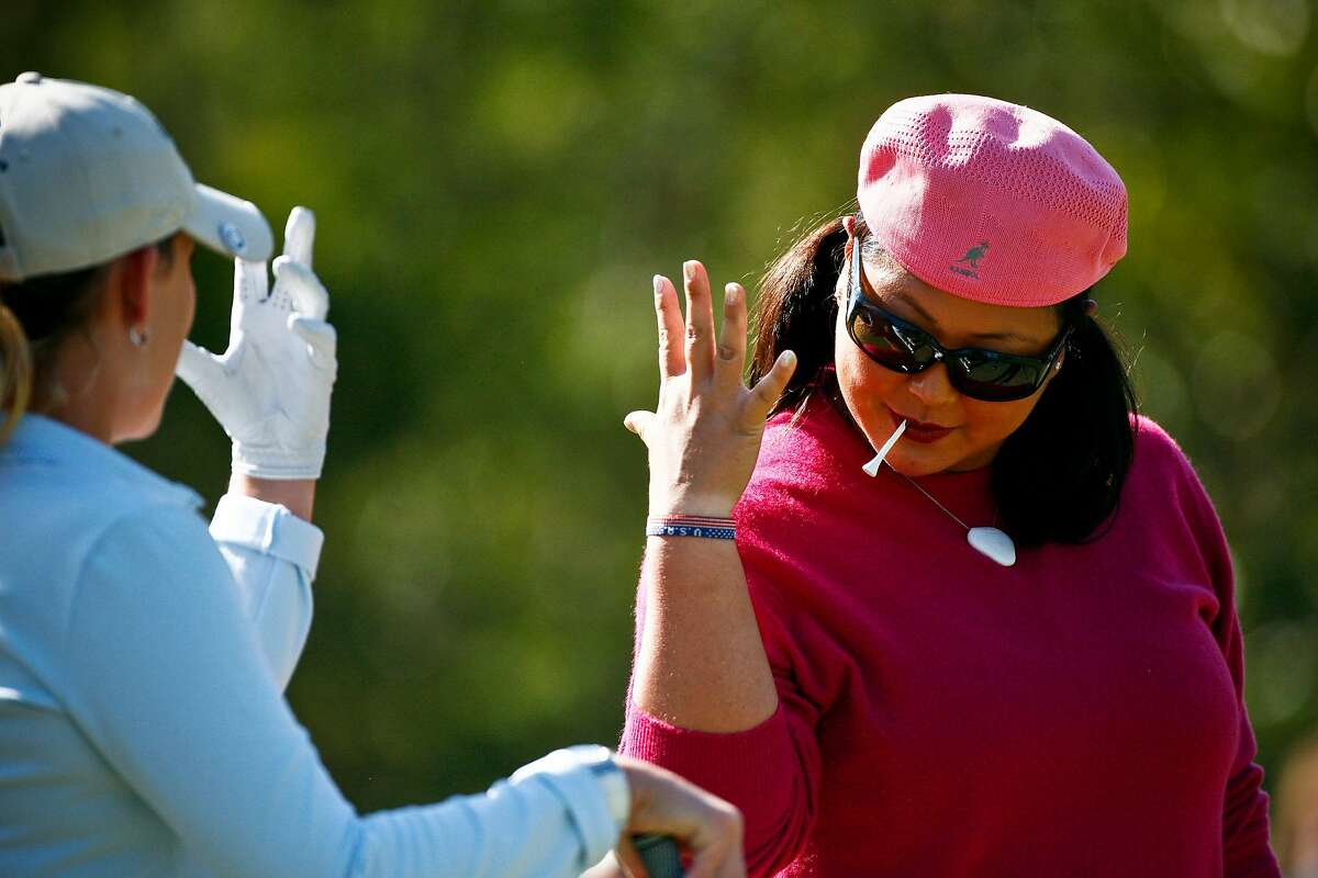 Christina Kim, right, keeps things light on and off the course as a TV analyst and author.