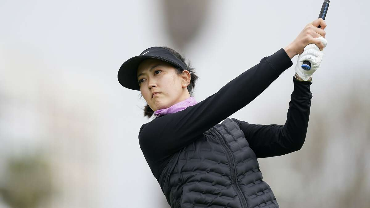Michelle Wie West tees off during the first round of the LPGA event in Los Angeles on April 21. Wie West, a Stanford alum now living in San Francisco, will play in this week's U.S. Women's Open at the Olympic Club.