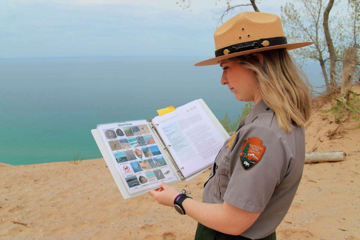 There are plenty of ways to learnabout the Sleeping Bear Dunes National Lakeshore though programs and kits offered by the National Park Service. (Courtesy Photo)