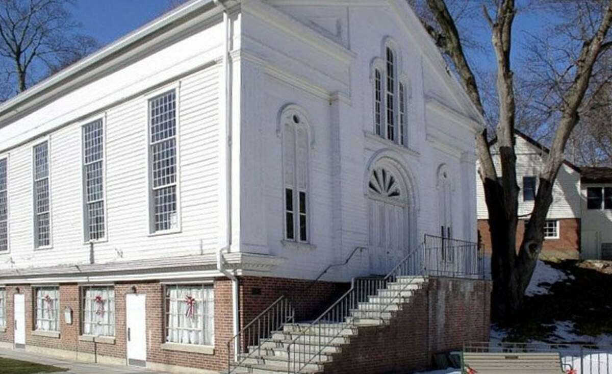 The 1842 Second Meeting House at 40 Main St. in Bethel, Conn., which serves as the home of the town's historical society.