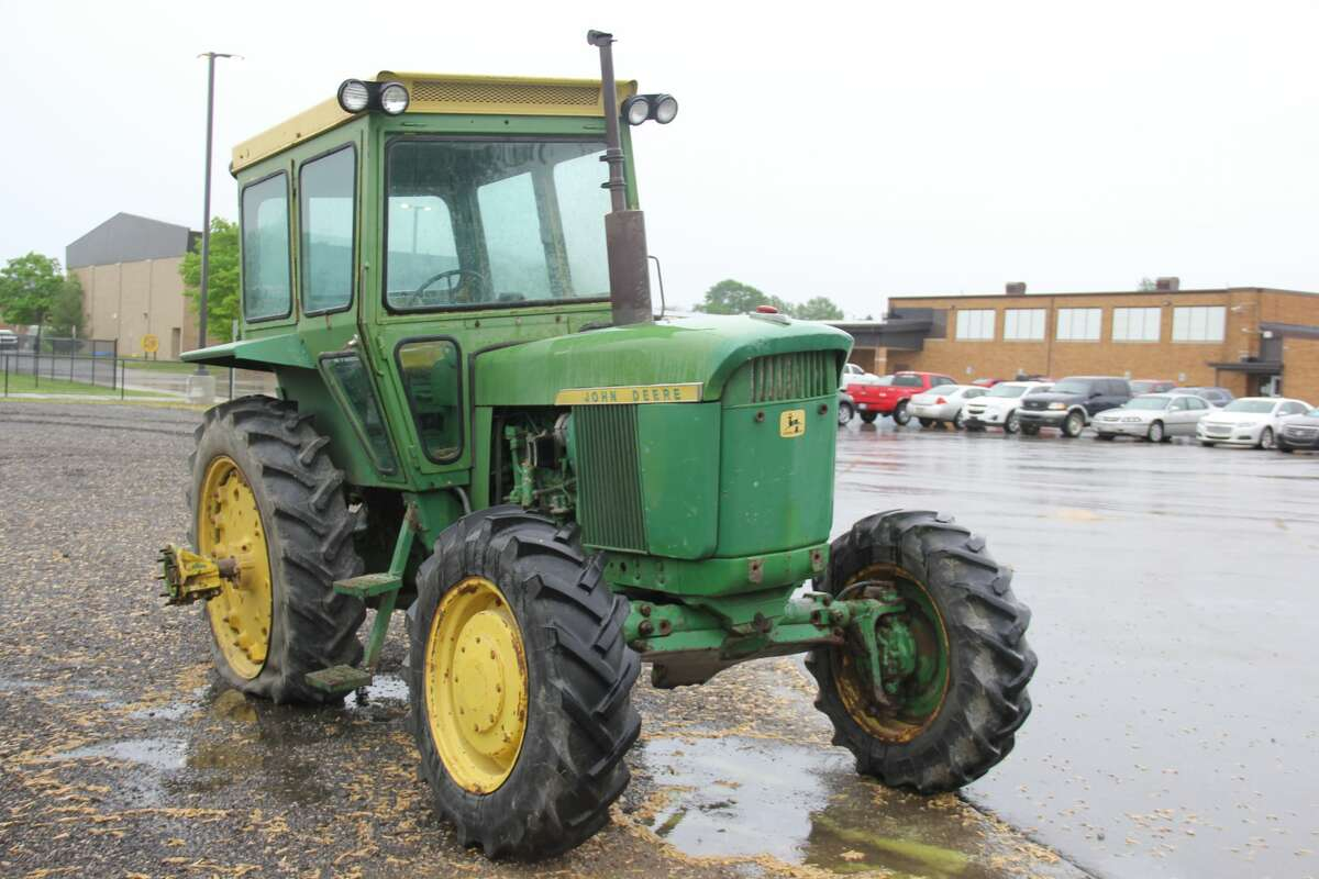 North Huron Schools had 20 tractors on display next to its parking lot as students brought them for Drive Your Tractor to School Day. The tractors ranged from some of the biggest and latest models to some smaller ones that look decades old.