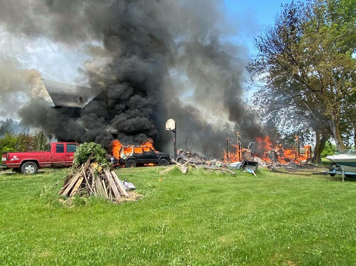 A house fire on Homer Road on Monday spread so quickly that several fire departments had to battle the blaze.