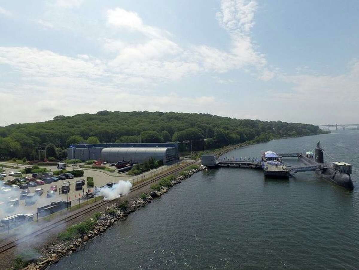 The Naval Submarine Base New London in Groton, Conn. On Monday, May 31, 2021, the base will have a 21-gun salute in honor of Memorial Day.