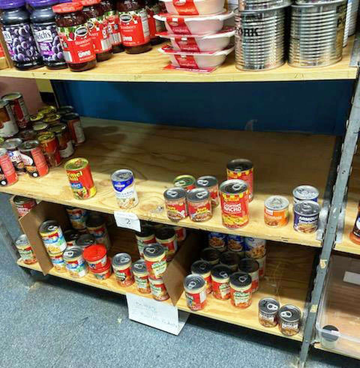 Some of the food shelves at Glen-Ed Pantry are starting to look bare. Director of Development Jane Ahasay said the pantry is especially looking for food items for summer barbecues.