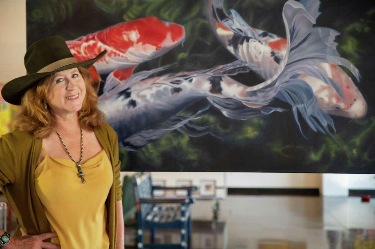 Nancy Viola's art work is currently on display at Art Museum TX.