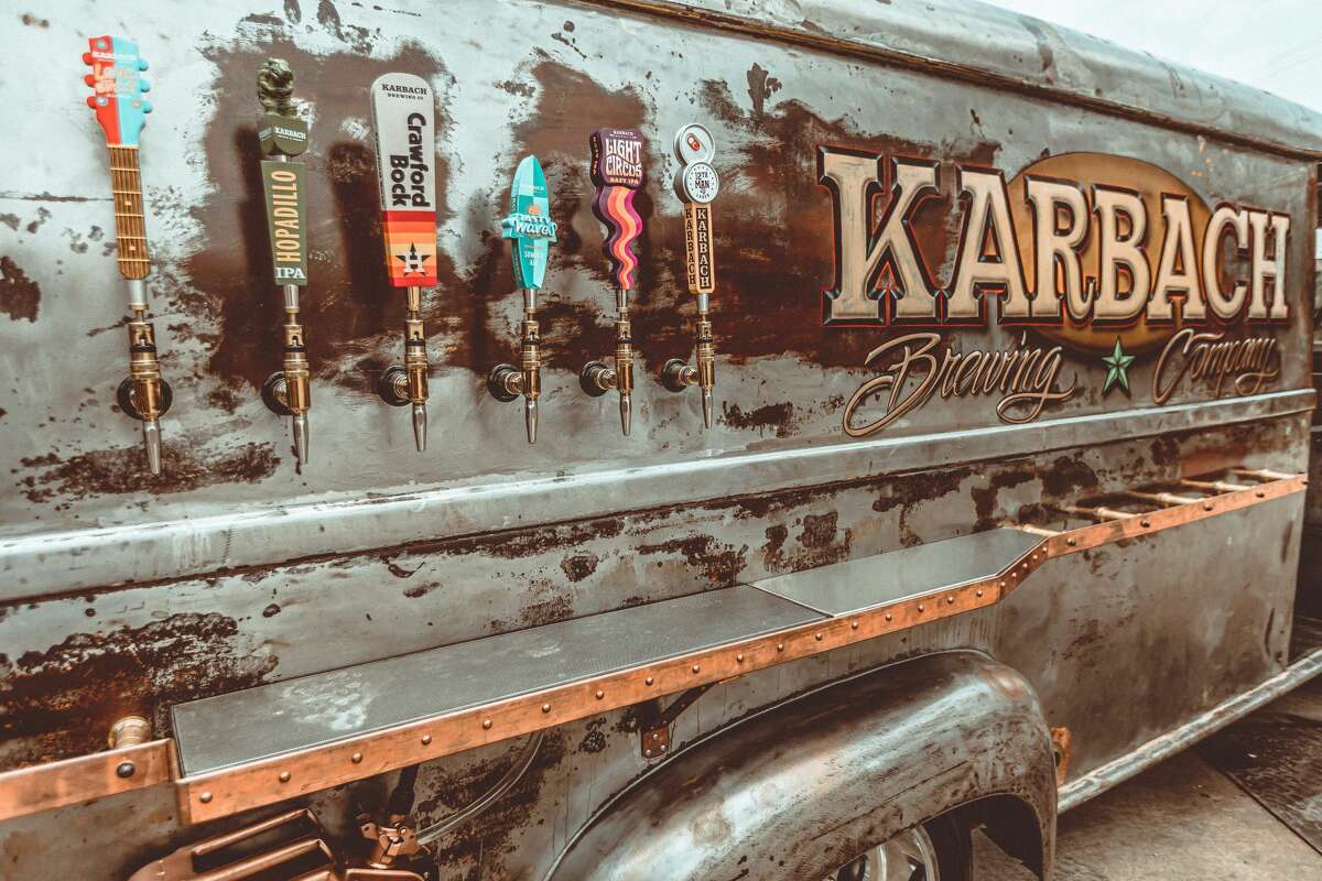 Custom food truck builder Cruising Kitchens and Houston-based Karbach Brewing Co. worked together to create this one of a kind drive.