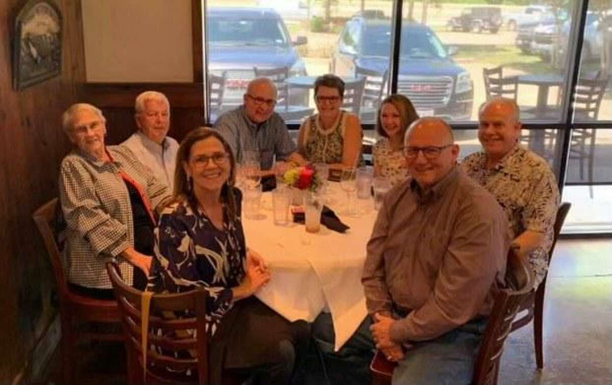 Doris and Joe Gurecky; Paul and Janice Knight; Regina and Commissioner Vincent Morales; and John and Tama Dorman have brunch at Pier 36as part of Restaurant Month. The month serves as a fundraiser for OakBend Medical Center.