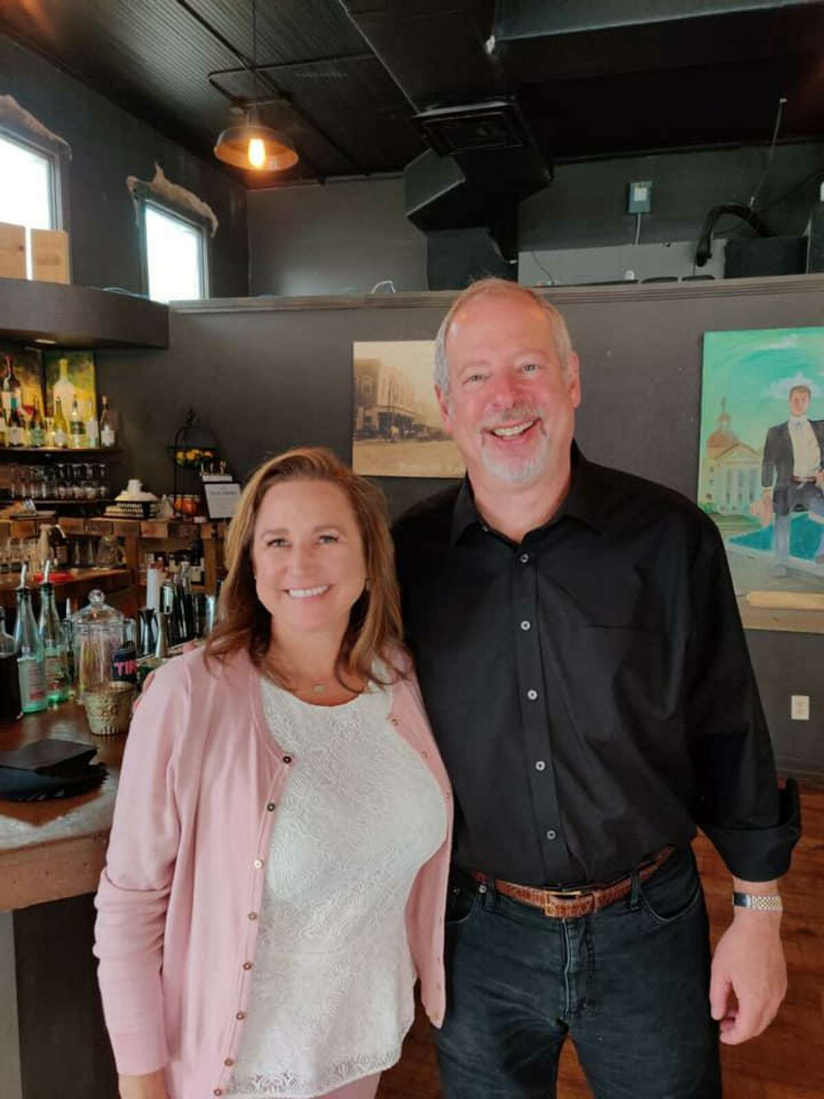 OakBend Medical Center's Joe Freudenberger, CEO, and Barbara Reed, Nursing Facility Quality Liaison, enjoy brunch at Sandy McGee's as part of Restaurant Month. The month serves as a fundraiser for OakBend Medical Center.