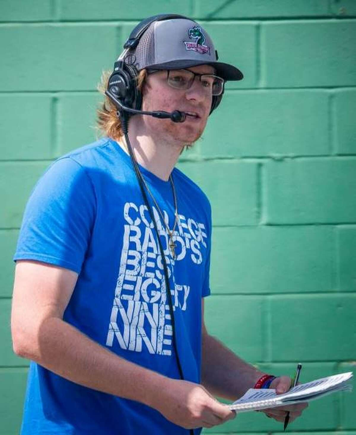 Ethan Hannaford, who broadcast Lewis and Clark Community College sports for WLCA 89.9-FM, is now heading to Lindenwood University to pursue a mass communications degree.