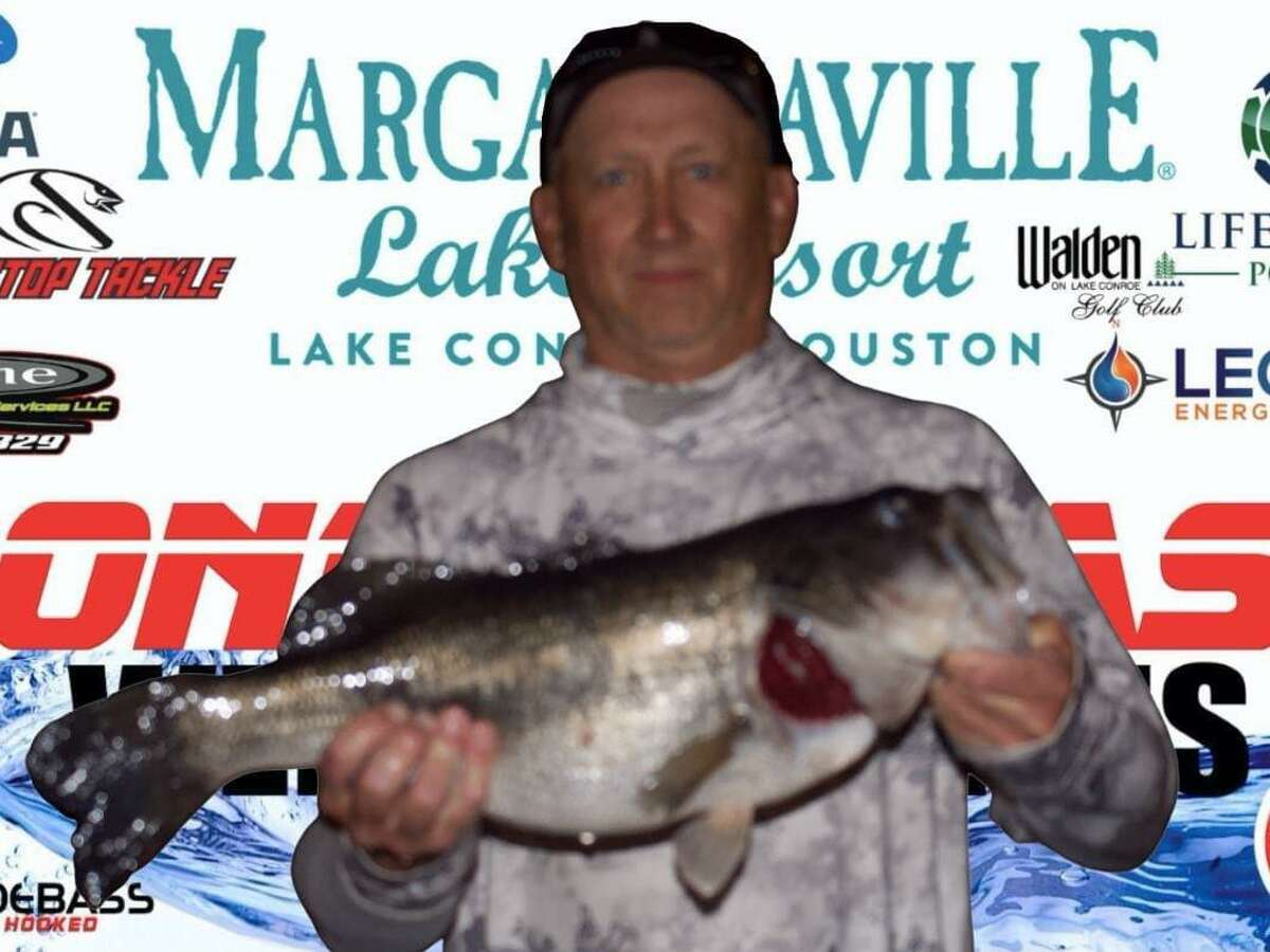 Ty Russell came in first place in the CONROEBASS Thursday Big Bass Tournament with a weight of 8.66 pounds.