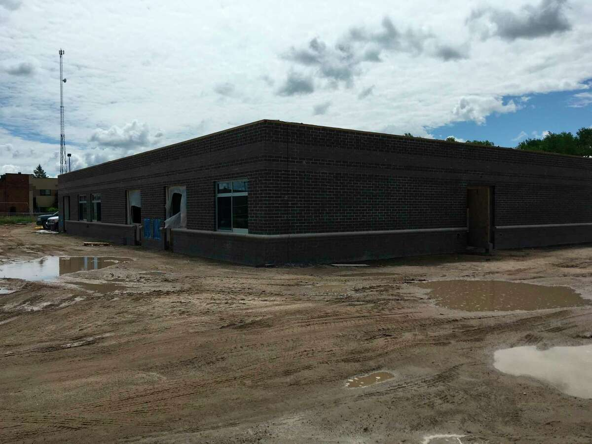 The construction underway on Barryton Elementary on a cloudy day this year shows the school is still seeing renovations including a new planned parking lot. (Courtesy/Barryton Elemtary)