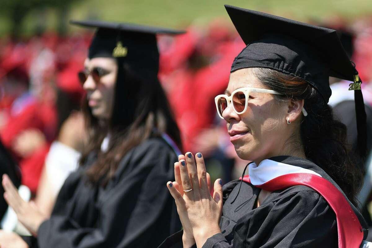 Wesleyan University held its commencement ceremonies Wednesday in Middletown.