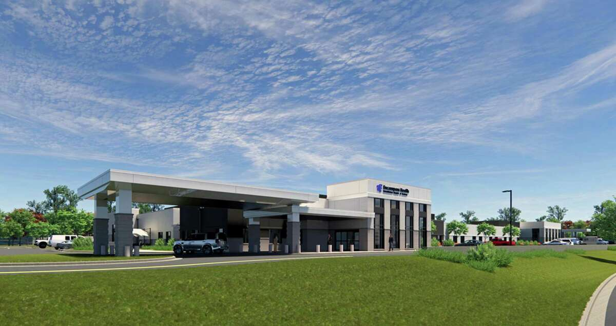 A rendering of the rehabilitation hospital proposed for a 13-acre site in The Reserve on Danbury's west side.